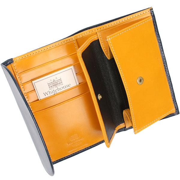 S7660 三つ折り財布 ネイビー・イエロー