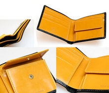 Whitehouse Cox[ホワイトハウスコックス]HOLIDAY LINE s7532 NOTECASE WITH COINCASE BLACKxYELLOW