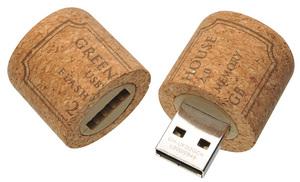 コルク栓型USBフラッシュメモリ