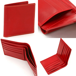Whitehouse Cox[ホワイトハウスコックス]二ツ折財布(カードケース)S5571 レッド