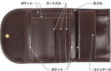 Whitehouse Cox[ホワイトハウスコックス]コンパクト三つ折り財布 s1058