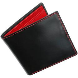 Whitehouse Cox[ホワイトハウスコックス]s7532 二つ折り財布 ブラック・レッド