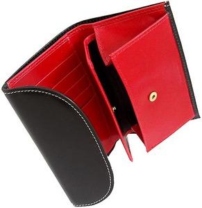 ホワイトハウスコックス[限定] s7660 三つ折り財布 ブラック・レッド