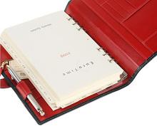 Whitehouse Cox[ホワイトハウスコックス]s9753 システム手帳A5サイズ ネイビー・レッド