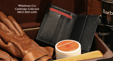 """Whitehouse Cox[ホワイトハウスコックス]COMPACT WALLET RED-LINE:s9632  """"CAMBRIDGE COLLECTION"""""""