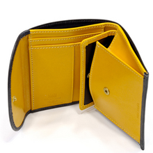 Whitehouse Cox[ホワイトハウスコックス]s1058 コンパクト三つ折り財布 ブラック・イエロー